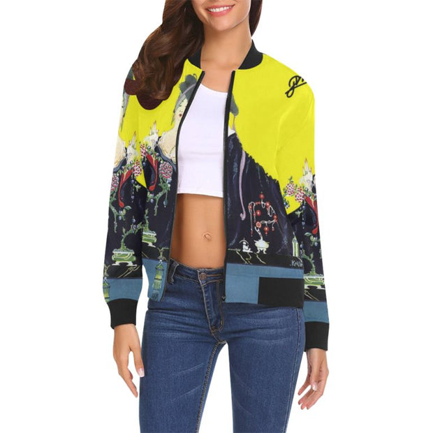 Vogue Cover Illustration Bomber Jacket