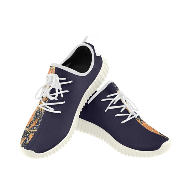 Breathable Running Shoe with Retro Print- Signed