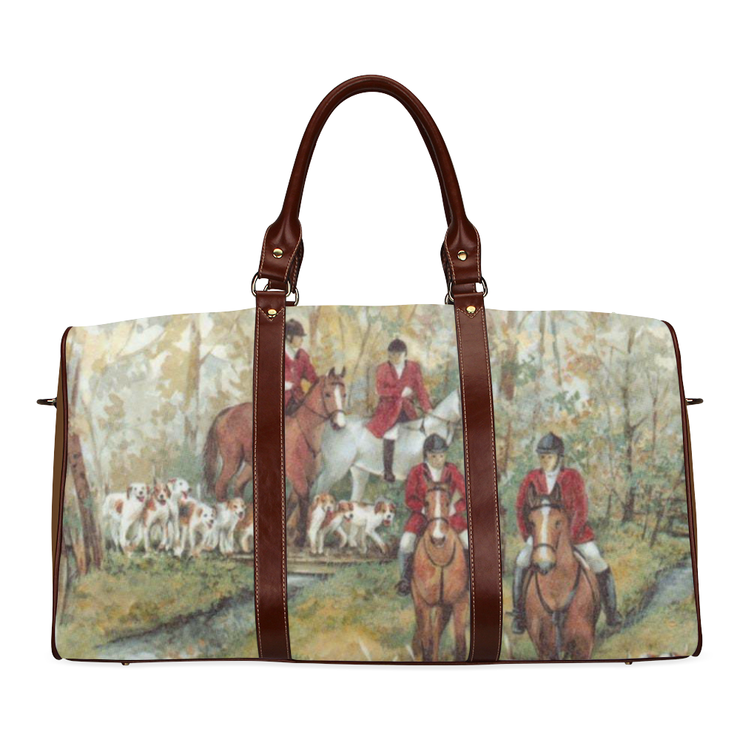 Large Equestrian Print Travel Bag