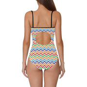 Swimsuit With Retro Print Back