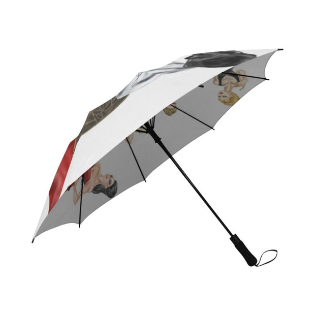 Semi- Automatic Foldable Umbrella- Signed