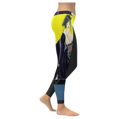 Vogue Illustration Low rise Leggings (invisible stitch)