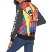 Original Horse Illustration Bomber Jacket