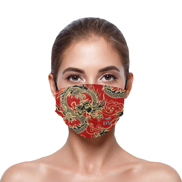 The Dragon- Pleated Face Mask