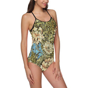 Swimsuit With Retro Print Flowers