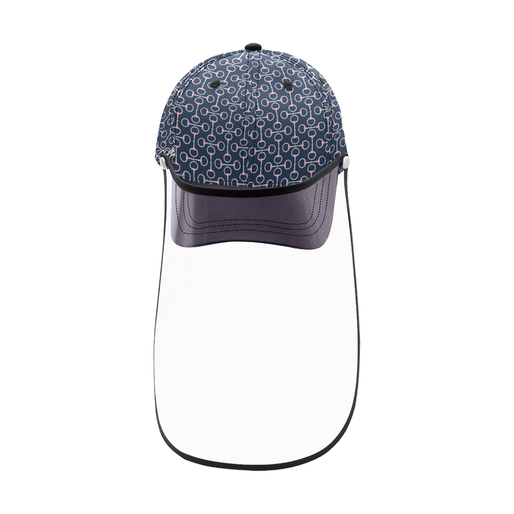 Designer cap with detachable face shield