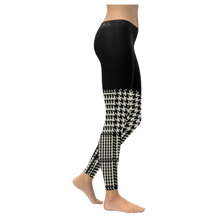 Houndstooth Check Low Rise Legging