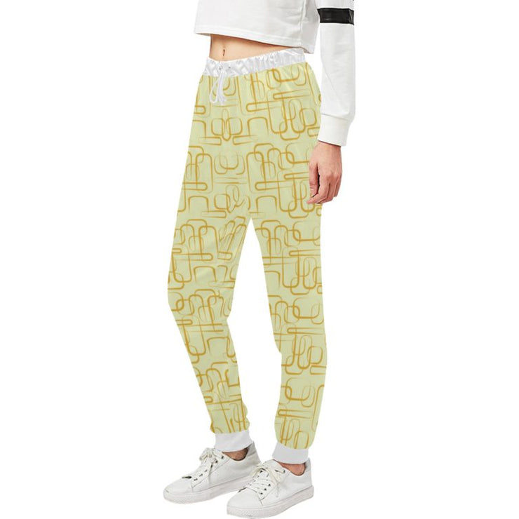Retro Print Sweatpants