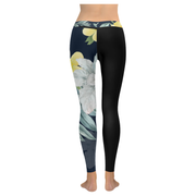 Japanese Flower Low Rise Leggings