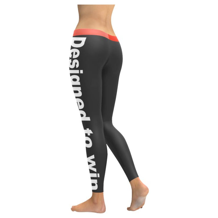 """Designed To Win"" Low Rise Leggings (Invisible Stitch)"