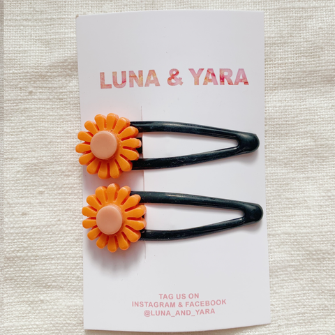 NIMI BARRETTE Orange/Black