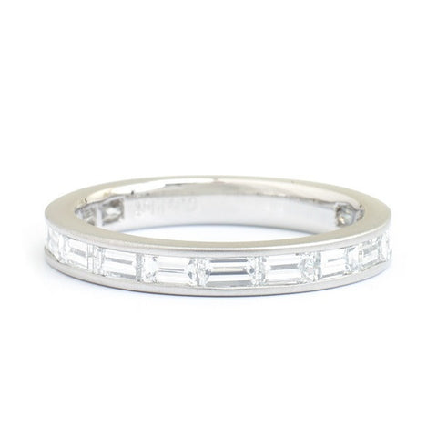 Baguette Diamond Platinum Band
