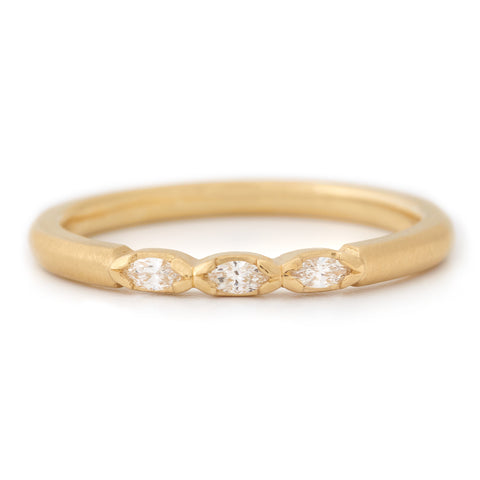 Three Marquise Diamond Band