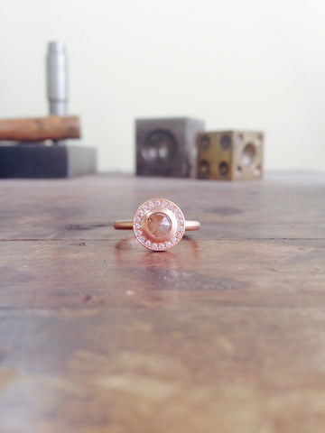 One of a Kind Round Coco Rosecut Diamond Ring