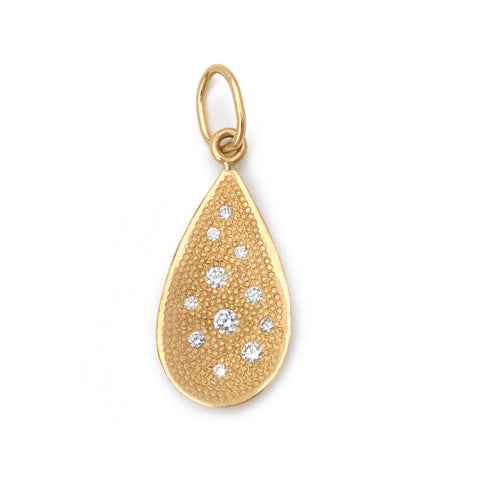 Stardust Diamond Teardrop Charm