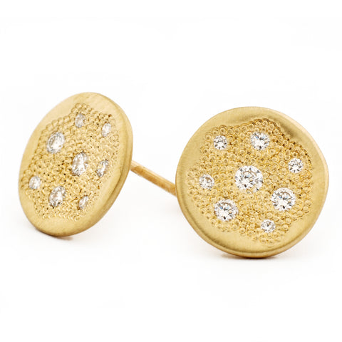 Diamond Paved Stardust Stud Earrings