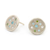 Seafoam Stardust Stud Earrings