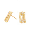 Diamond Bamboo Stud Earrings