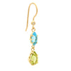 Blue Marquise Shaped Topaz Gemstone Hook Earrings