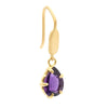 Elegant Amethyst Hook Earrings
