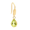 Dainty Pear Shaped Peridot Hook Earrings