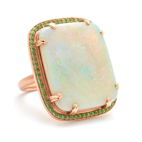 One of a Kind Opal Aurora Cocktail Ring