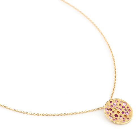 Gold Cable Chain with 'Sunburst' Pendant