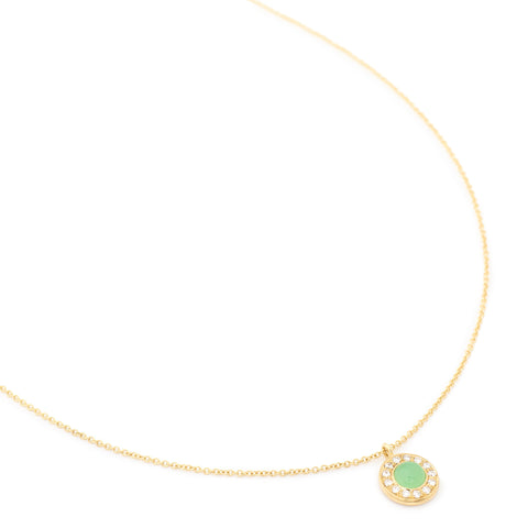 Chrysoprase Diamond Fresh Necklace