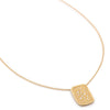 Stardust Organic Rectangle Pendant Necklace