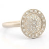 Pave Diamond Medallion Ring