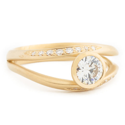 Double Flow Engagement Ring