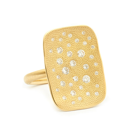 Stardust Organic Rectangle Ring