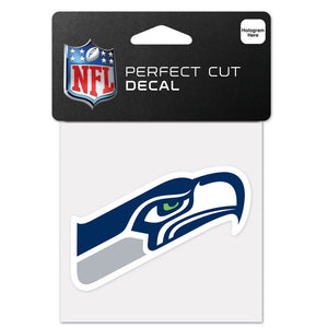 "SEATTLE SEAHAWKS PERFECT CUT 4""X 4"" DECAL"