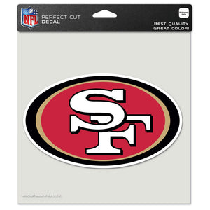 "SAN FRANCISCO 49ERS DIE CUT 8""X 8"" DECAL"
