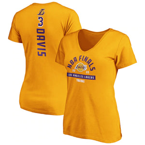 ANTHONY DAVIS WOMEN'S FINALS NAME NUMBER T-SHIRT