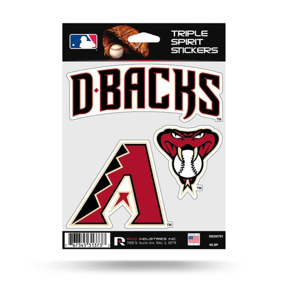 ARIZONA DIAMONDBACKS TRIPLE SPIRIT DECAL