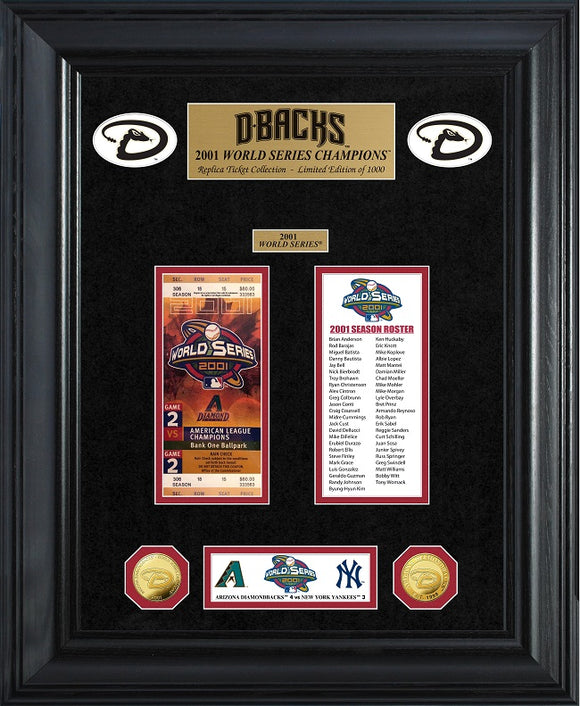 ARIZONA DIAMONDBACKS WORLD SERIES DELUXE GOLD COIN & TICKET COLLECTION