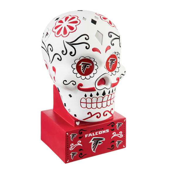 ATLANTA FALCONS SUGAR SKULL HEAD