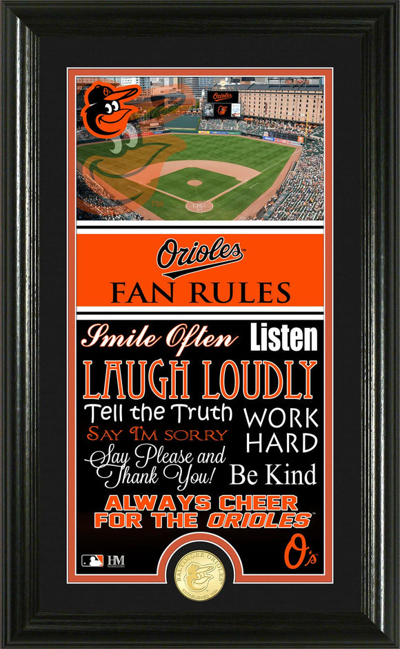 BALTIMORE ORIOLES FAN RULES SUPREME BRONZE COIN PHOTO MINT