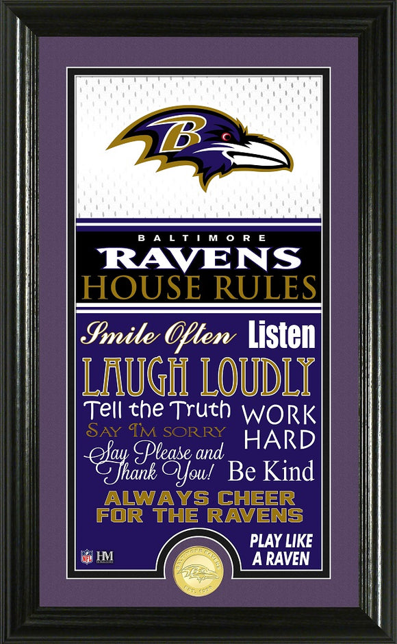 BALTIMORE RAVENS JERSEY HOUSE RULES SUPREME PHOTO MINT