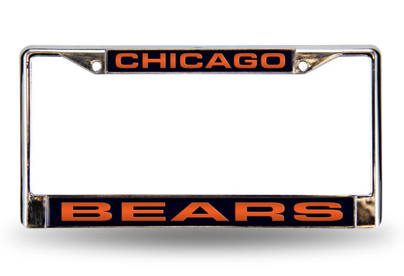 CHICAGO BEARS LASER LICENSE PLATE FRAME