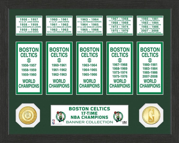 BOSTON CELTICS BANNER COLLECTION PHOTO