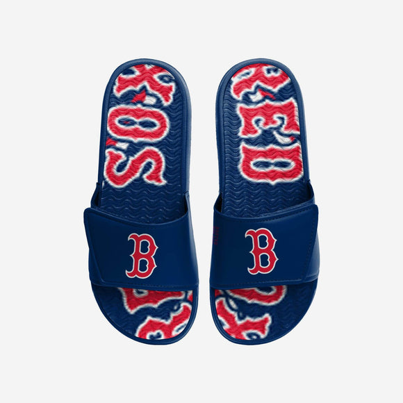 BOSTON RED SOX MEN'S GEL SLIDES