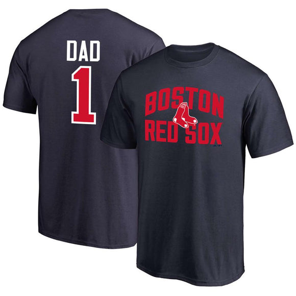 BOSTON RED SOX MEN'S NUMBER 1 DAD T-SHIRT