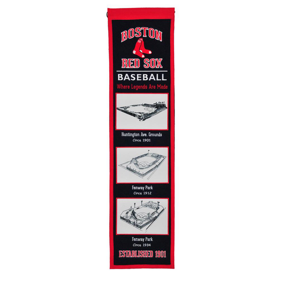 BOSTON RED SOX STADIUM EVOLUTION BANNER