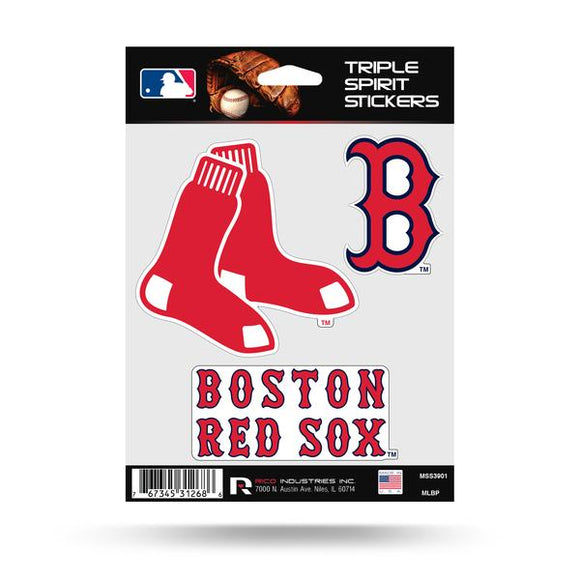 BOSTON RED SOX TRIPLE SPIRIT DECAL