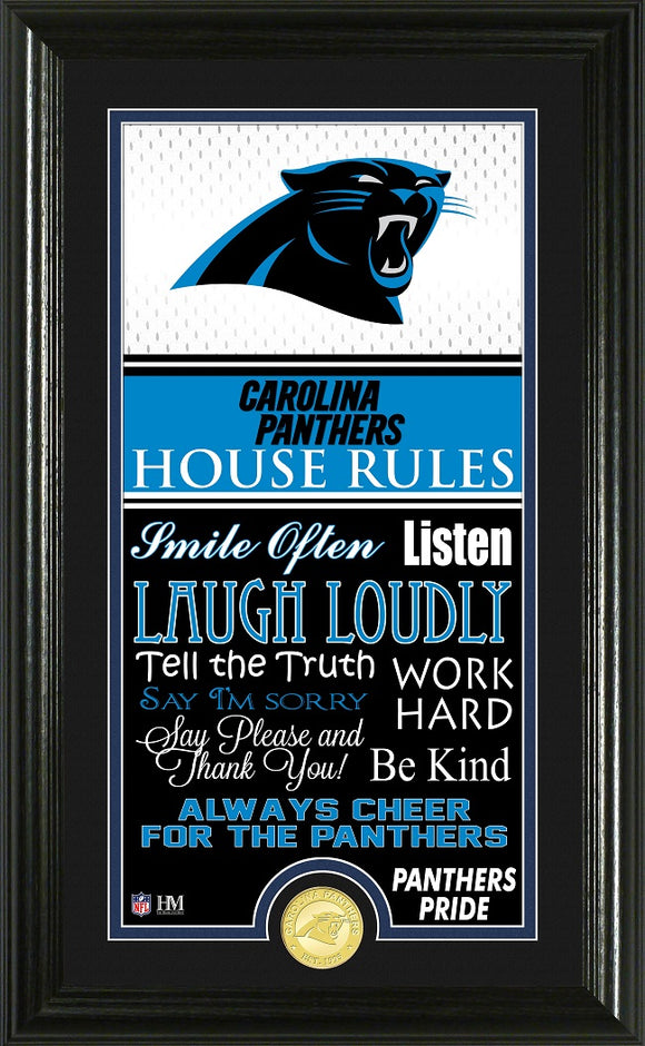 CAROLINA PANTHERS JERSEY HOUSE RULES SUPREME PHOTO MINT