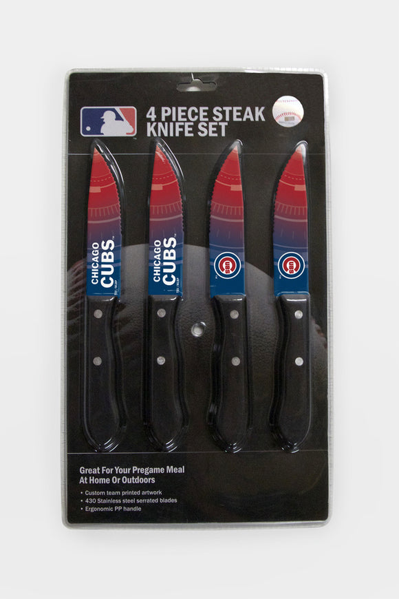 CHICAGO CUBS 4PK KNIFE SET