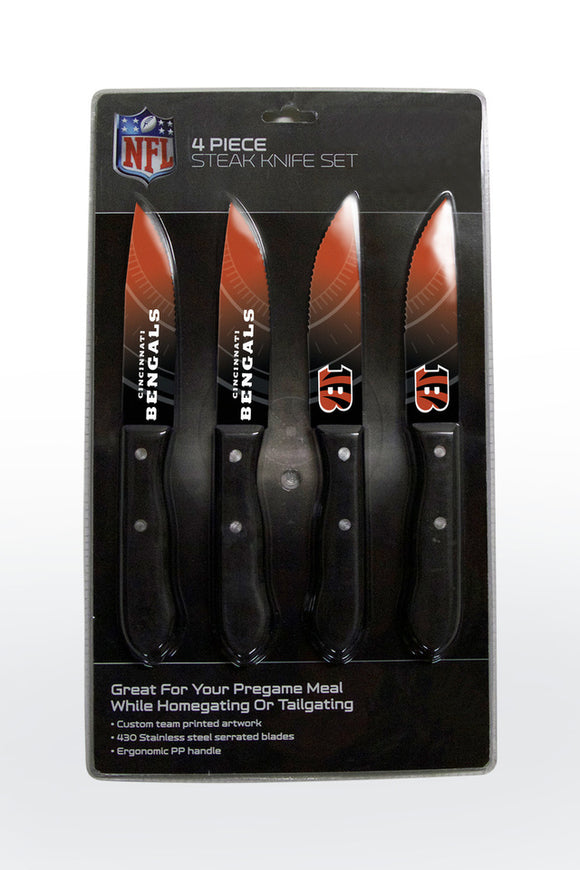 CINCINNATI BENGALS 4PK KNIFE SET