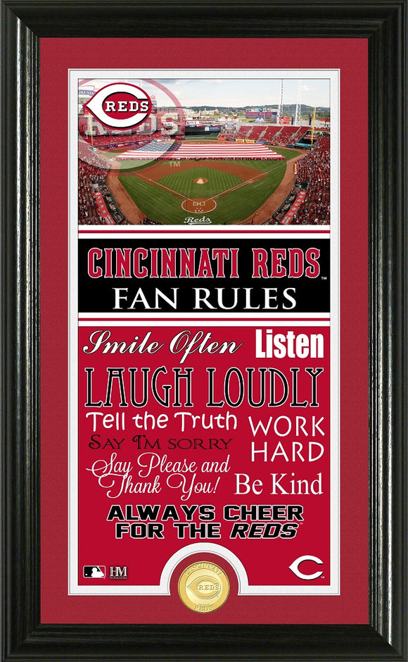 CINCINNATI REDS FAN RULES SUPREME BRONZE COIN PHOTO MINT